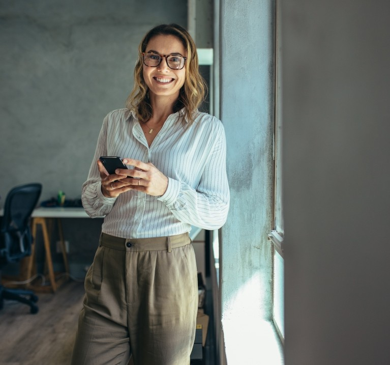 image of a smiling professional woman